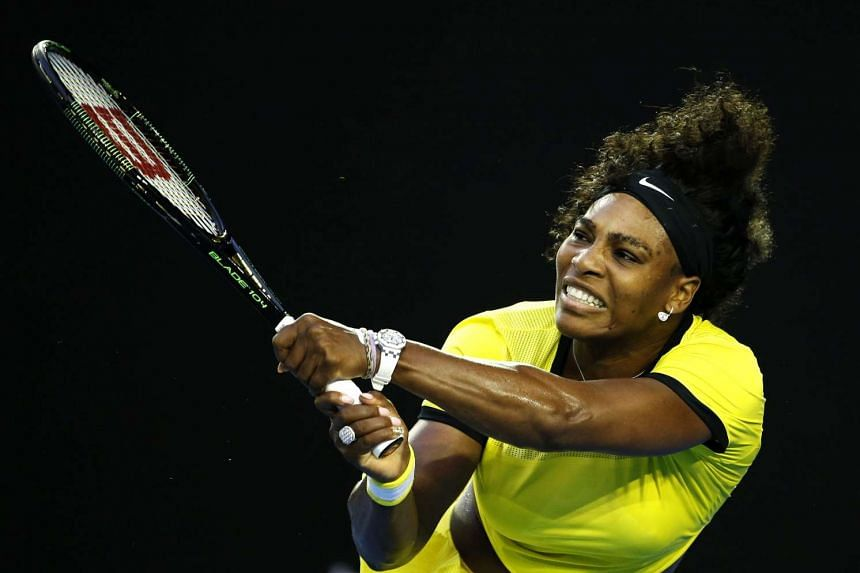 Serena Williams during her third round match against Daria Kasatkina of Russia at the Australian Open.