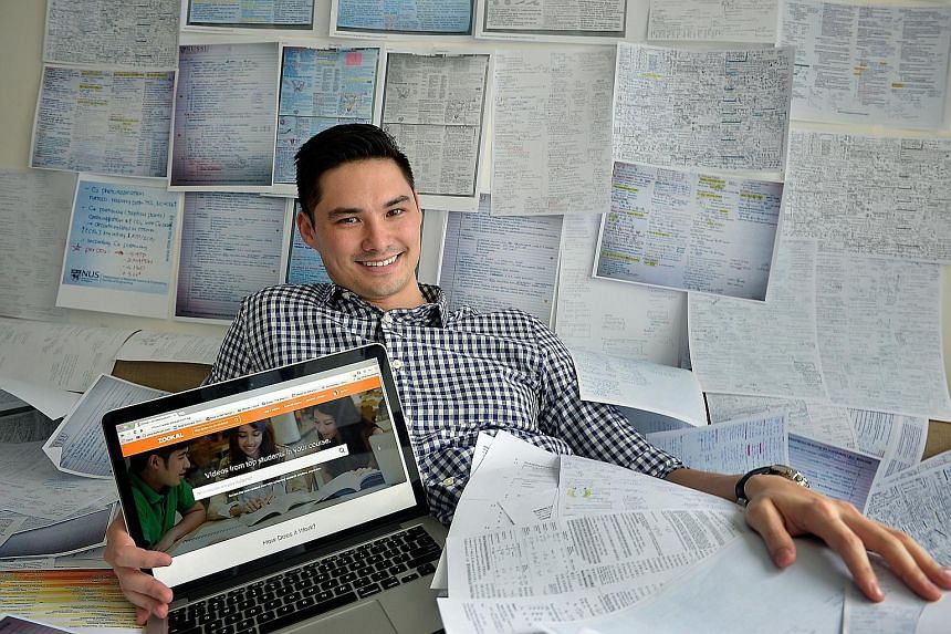 Education firm Zookal offered to buy cheat sheets for $10 each from students who scored at least an A last month. It has already bought hundreds of them, said its co-founder Jon Tse (left).