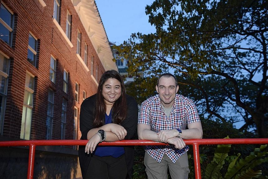 Private school teacher Evangelyn Stephen and British engineer Martin Reed are among NTU's pioneer batch of students studying for the master's degree in translation and interpretation.