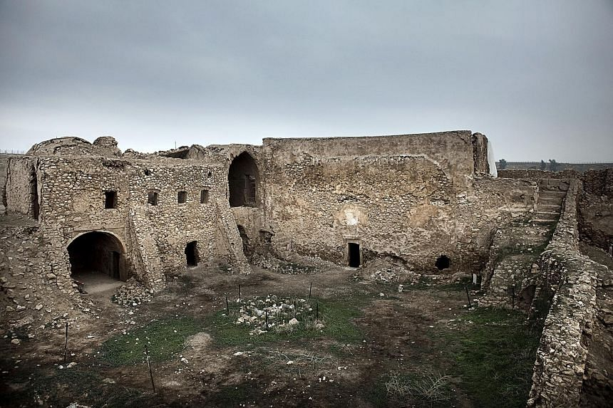 The monastery of St Elijah before its destruction. It had stood for more than 1,400 years near the Iraqi city of Mosul.