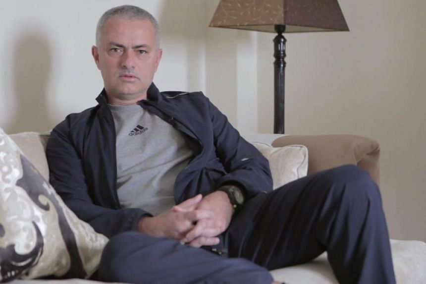 A screenshot of Mourinho from the online video.