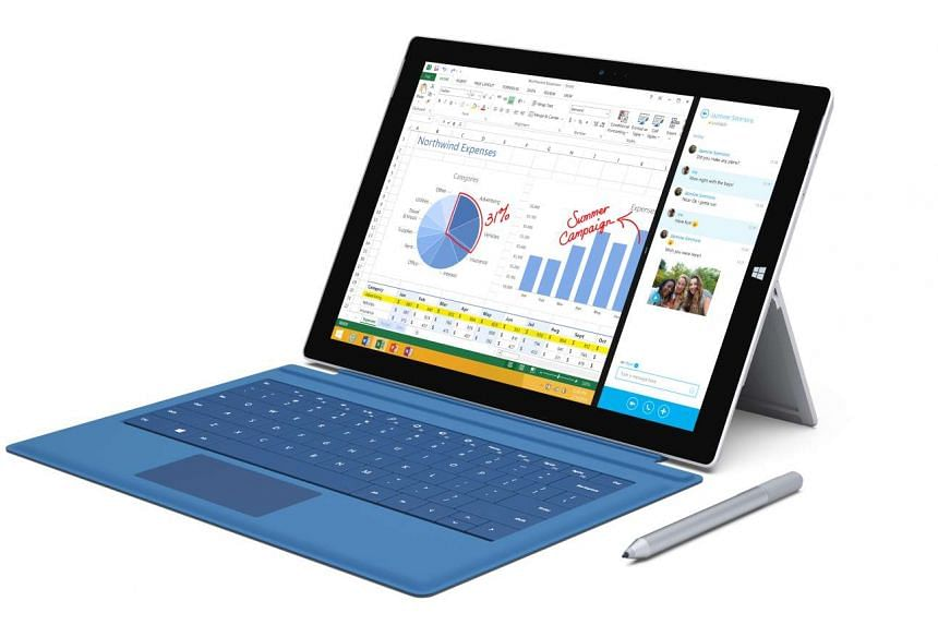 The Microsoft Surface Pro 3,