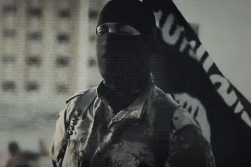 A screenshot of a militant from a documentary about ISIS posted online.