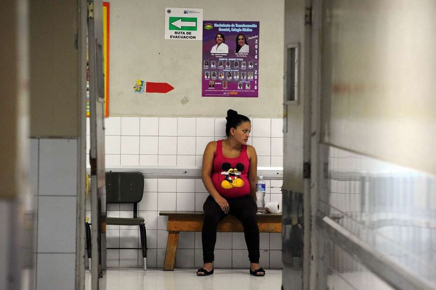 A pregnant woman waiting to be attended at the Maternal and Children's Hospital in Tegucigalpa, Honduras, on Jan 21.