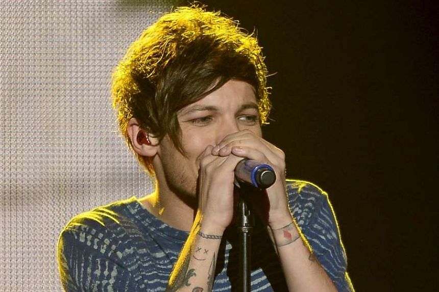 Louis Tomlinson performs at Staples Center in Los Angeles, California on Dec 4, 2015.