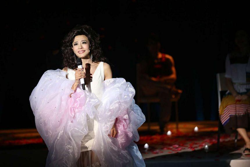 Hong Kong stage actress Perry Chiu sings about 30 songs in Teresa Teng Musical.