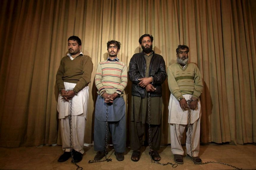 Four of the men accused of being the facilitators of the Bacha Khan University attack.