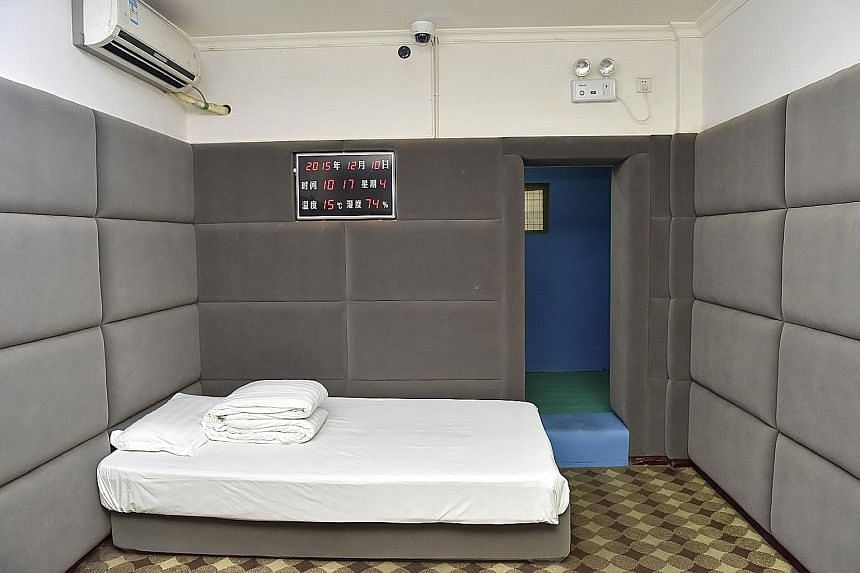 A room at the holding centre in Chengdu. ChinaFile's database shows that 231 officials have been convicted and sentenced in Chinese courts.