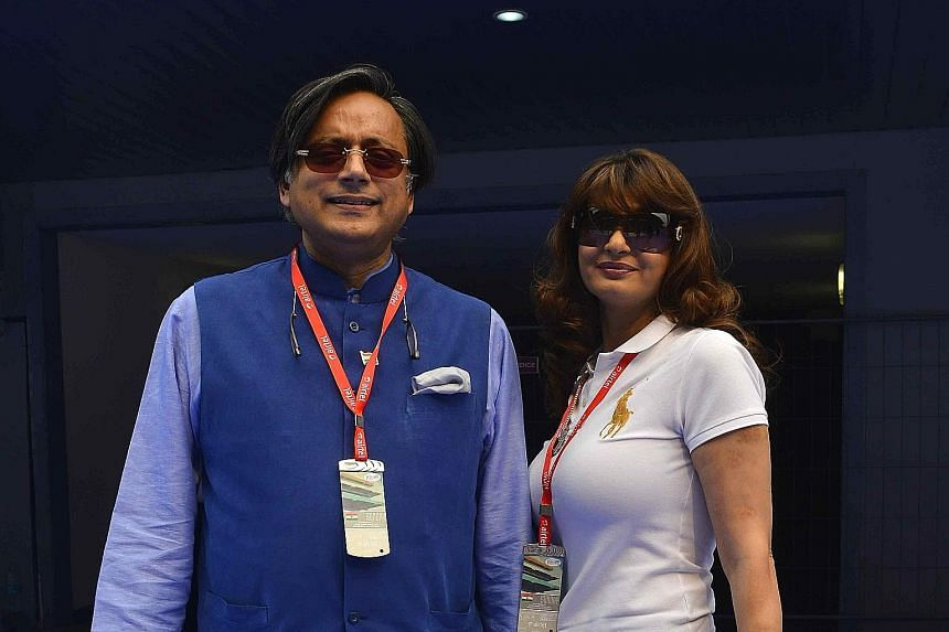 Former UN diplomat Shashi Tharoor and his wife Sunanda Pushkar in 2013. Ms Pushkar, who was found dead in a hotel in 2014, had accused Mr Tharoor of having an affair.