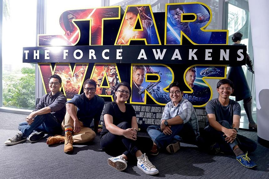 (From left) Rotoscope lead JeanLe Koh, 34; production manager Pei'an Lau, 31; layout artist Janice Chan, 33; texture lead Elvin Siew, 29; and lighting technical director Adrian Tsao, 35, were in the team that worked on the latest Star Wars movie's vi