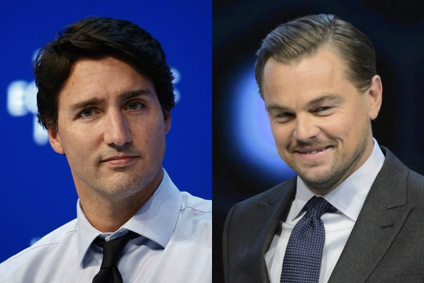 "Canadian Prime Minister Justin Trudeau (left) has urged actor Leonardo DiCaprio to tone down his ""inflammatory rhetoric"" on climate change."