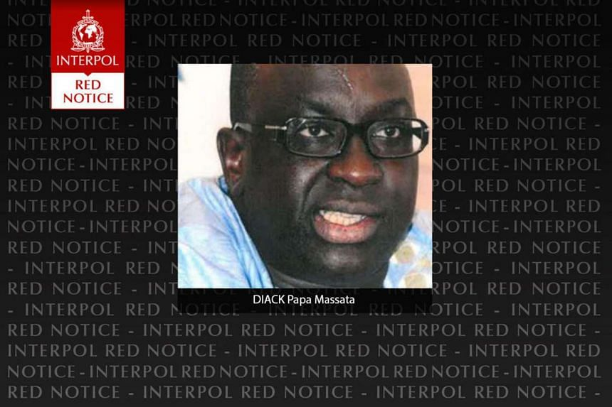 A photo from Interpol shows Papa Massata Diack, son of former IAAF head Lamine Diack.