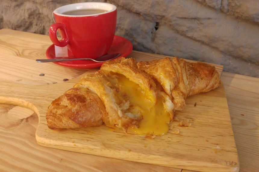 Salted egg yolk croissants at Flavour Flings cafe sold out within half an hour on Jan 23, 2016.