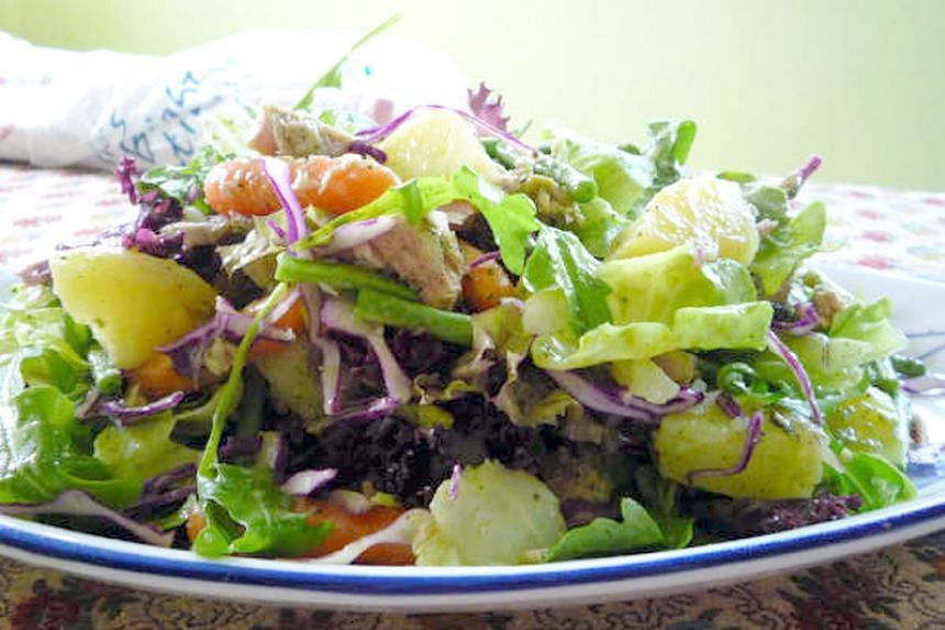 Salad leaves in a file photo. An outbreak of listeria in the US has been linked to salads packaged at a Dole plant in Ohio.