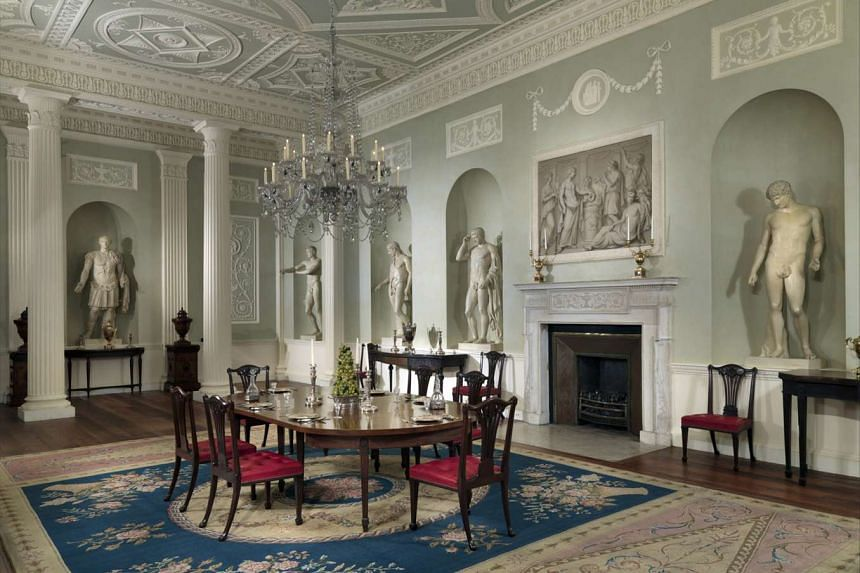 Dining room from the Lansdowne House (above).