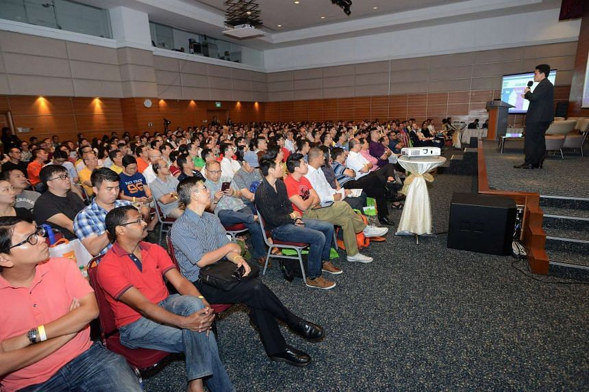 More than 500 turned up at the SPH auditorium for the first day of a property seminar and showcase featuring overseas properties.