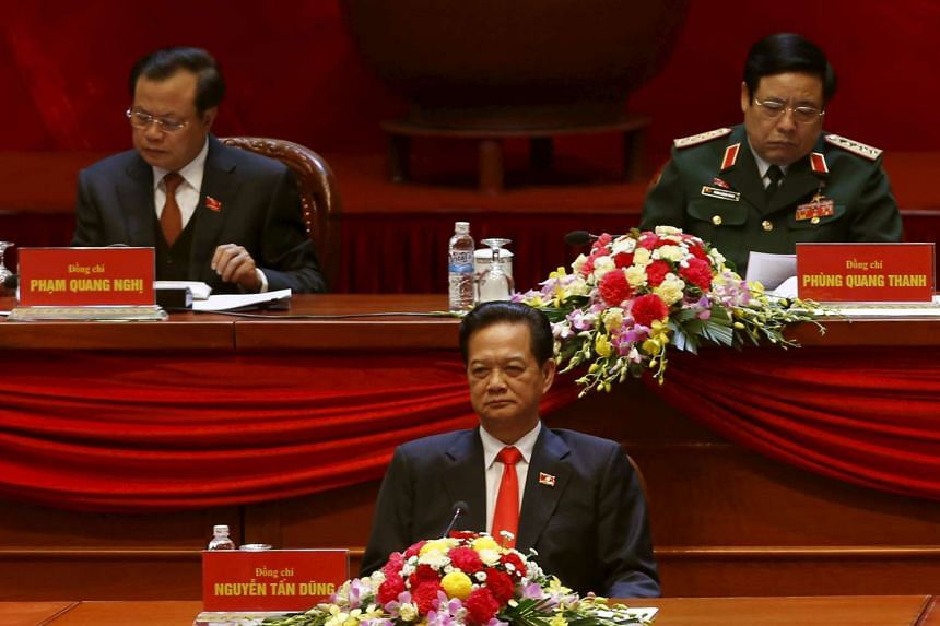 Vietnamese Prime Minister Nguyen Tan Dung (centre) was not nominated for any of the key leadership posts in the Communist Party.