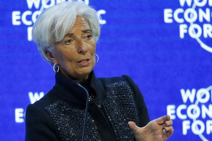 Managing Director of the International Monetary Fund (IMF) Christine Lagarde at the annual meeting of the World Economic Forum (WEF) in Davos, Switzerland on Jan 23, 2016.