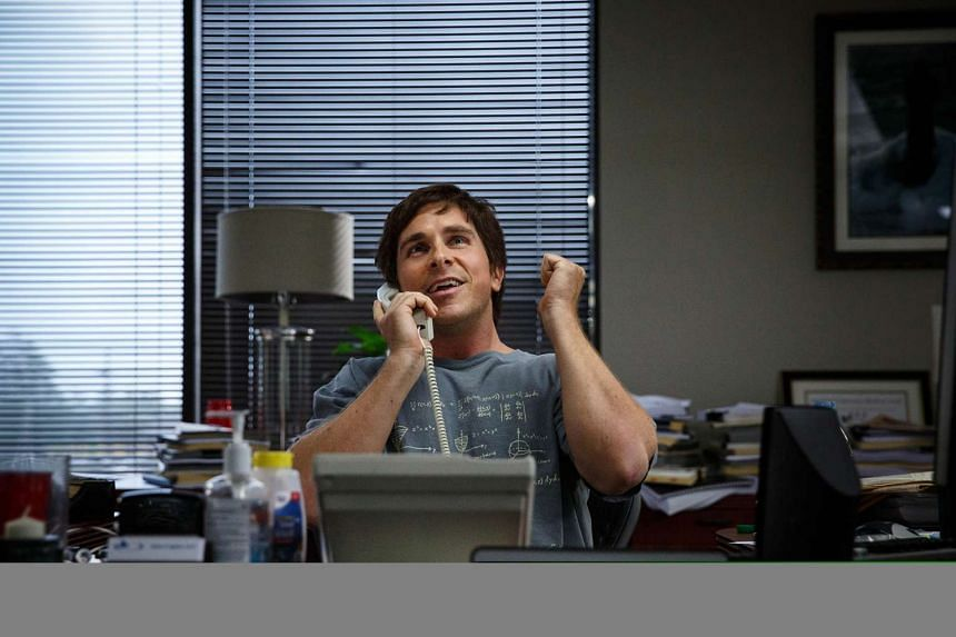 A cinema still from The Big Short, starring Christian Bale.