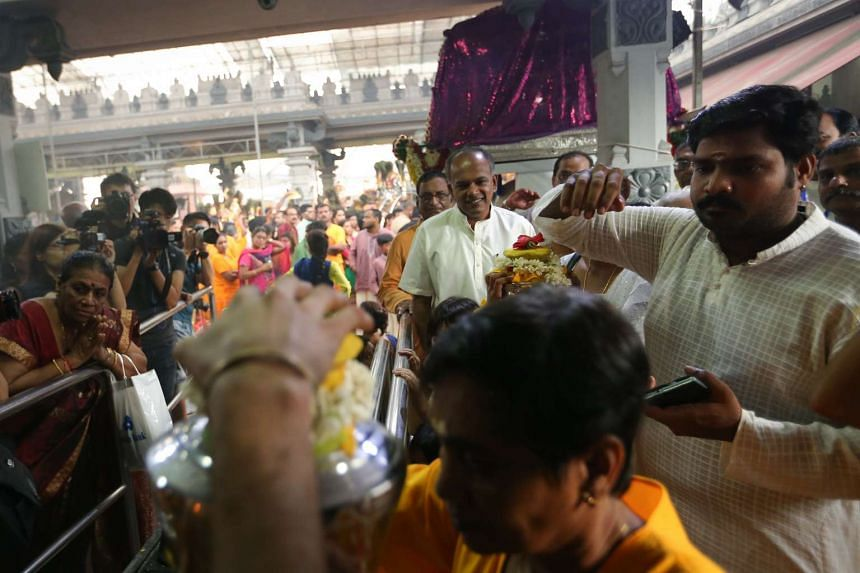 Mr K Shanmugam, Minister for Home Affairs and Minister for Law, joined Hindu devotees in celebrating Thaipusam.