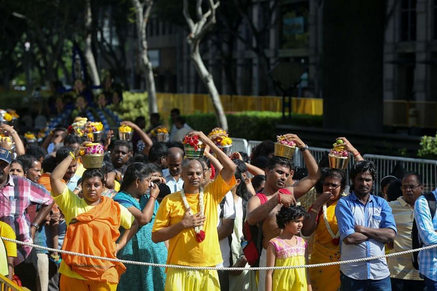 Thaipusam is celebrated with a religious procession that starts at the Sri Srinivasa Perumal Temple in Serangoon Road and ends at the Sri Thendayuthapani Temple in Tank Road.