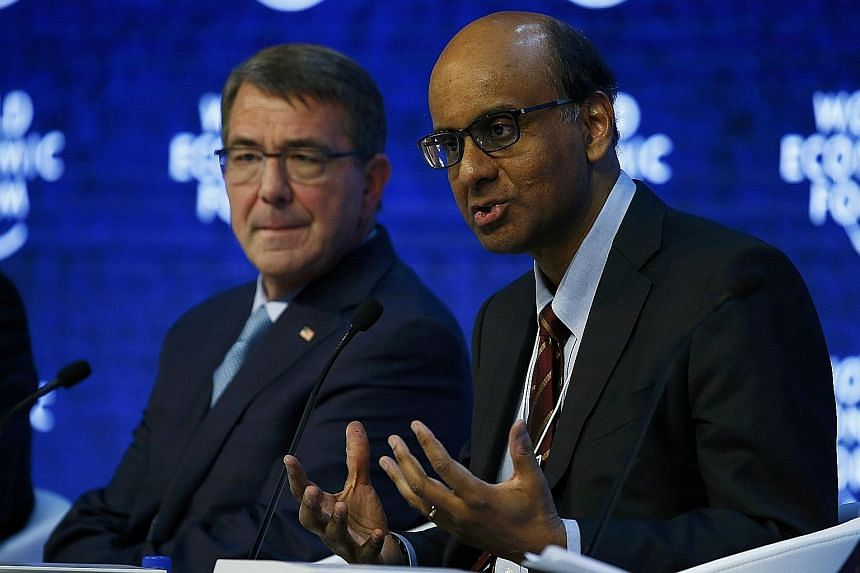 Deputy Prime Minister Tharman Shanmugaratnam says a US-China military conflict had a lower probability of happening than a terrorist attack in the region, but that any Sino-US clash would have major consequences. He and US Defence Secretary Ashton Ca