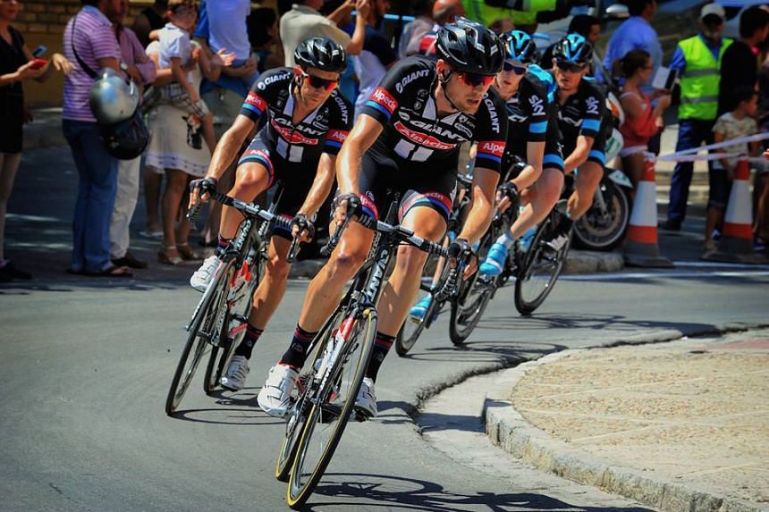 A photo from the Giant-Alpecin team's Facebook page.
