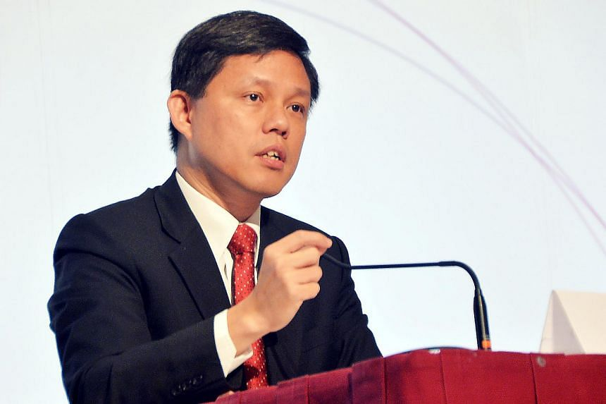 Labour chief Chan Chun Sing at the Institute of Policy Studies' (IPS) Singapore Perspectives conference, on Jan 18, 2016.