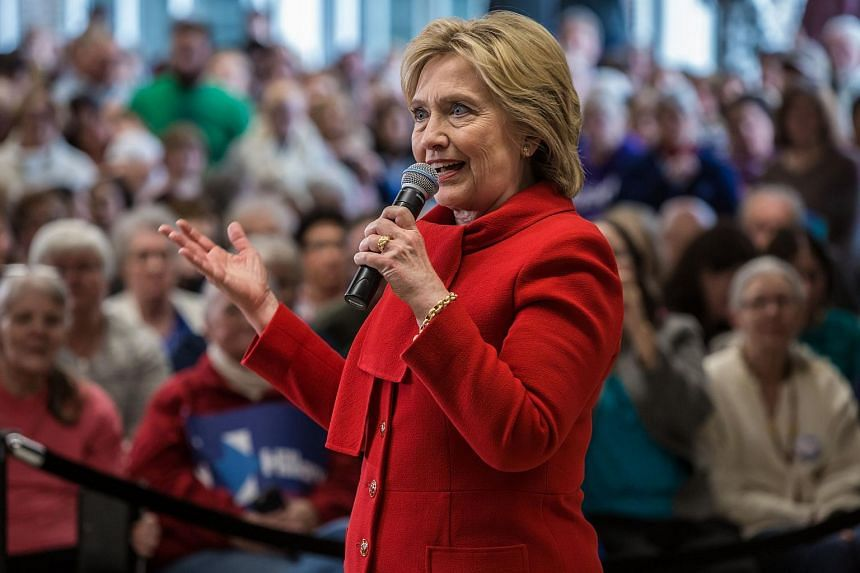 Democratic presidential candidate Hillary Clinton speaking at a campaign event in Marion, Iowa, on Jan 24, 2016.