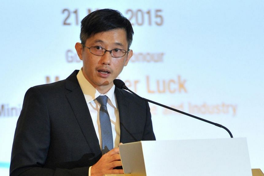 Mr Teo Ser Luck speaking at the SME Capabilities Forum on May 21, 2015.