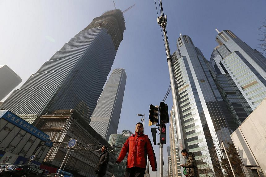 People in the central business district of Beijing on Jan 19, 2016.