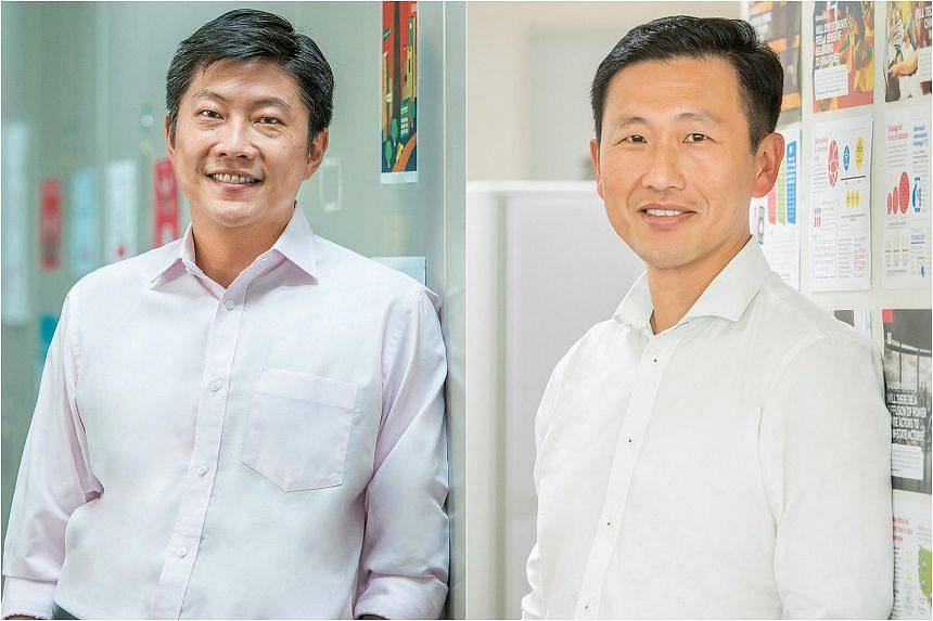 Mr Ng Chee Meng (left), Acting Minister for Education (Schools), and Mr Ong Ye Kung, Acting Minister for Education (Higher Education and Skills).