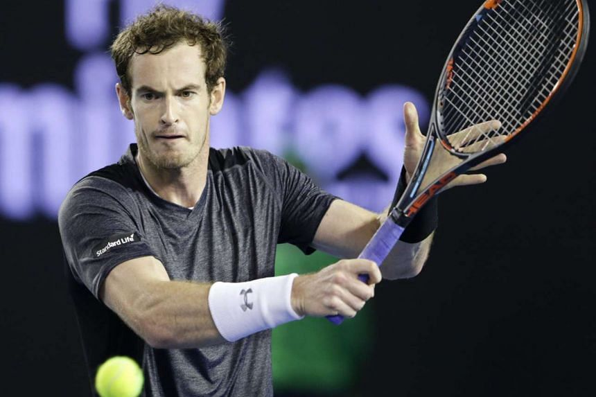 Andy Murray during his fourth-round match against Bernard Tomic at the Australian Open on Jan 25, 2016.