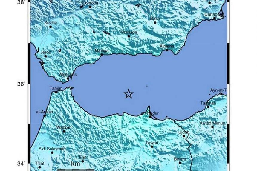 A handout shakemap released by the US Geological Survey (USGS) shows the location of a 6.1 magnitude earthquake striking in the Mediterranean Sea on Jan 25, 2016.