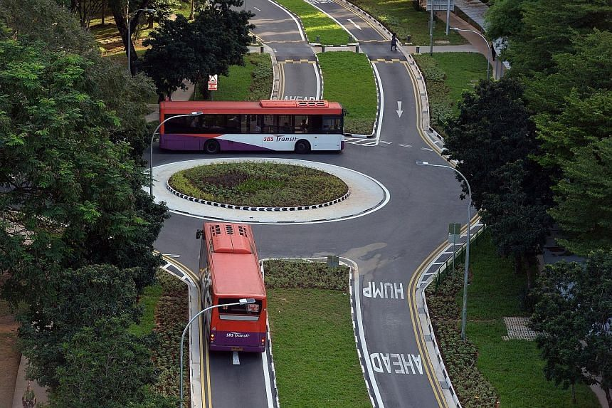 A new roundabout is among the new road features that have been built to encourage motorists to travel at slower speeds under a new Silver Zone in Lengkok Bahru. It was opened by the Member of Parliament and grassroots adviser to Tanjong Pagar GRC, Dr
