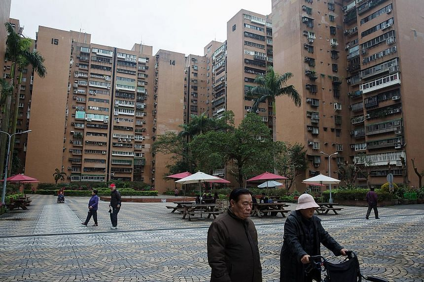 A residential building at the Cheng-Kung public housing estate in Taipei. Only 0.68 per cent of the city's 2.7 million residents live in 6,500 social housing units, with the rest renting or buying private properties.