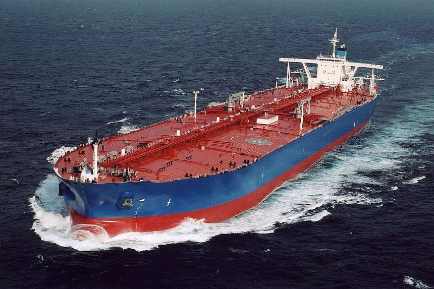 It is lucrative for traders to buy barrels cheaply now to store and sell later at a higher price. Some hire floating storage like Very Large Crude Carriers (above), which can store nearly two million barrels of crude.