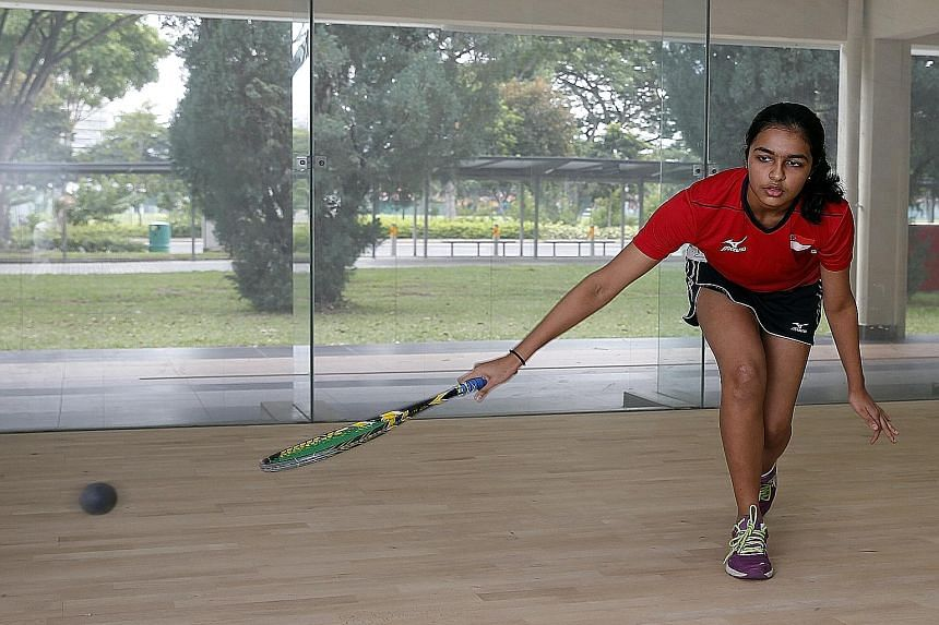 Sneha Sivakumar, 14, is one of Singapore's brightest squash prospects, winning a doubles silver and a team gold at the six-nation South-east Asia Squash Cup.