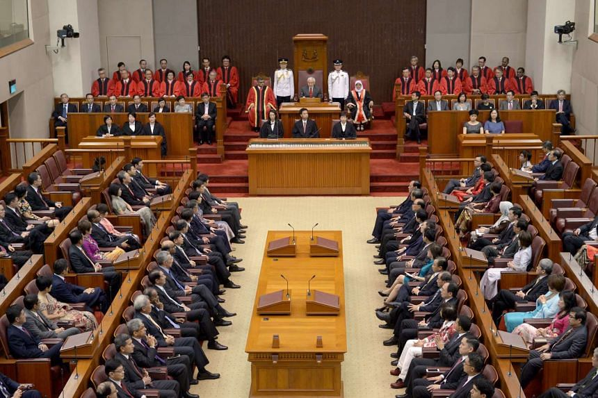 The opening of the first session of the 13th Parliament on Jan 15, 2016. MPs started the week-long debate on the President's Address on Jan 25, 2016.