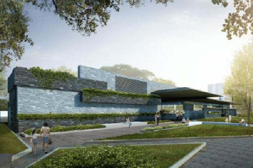 An artist's impression of the exterior of Marine Terrace station.