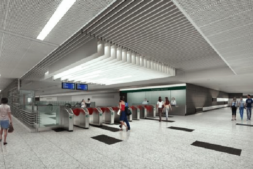 An artist's impression of the interior of Marine Terrace station.