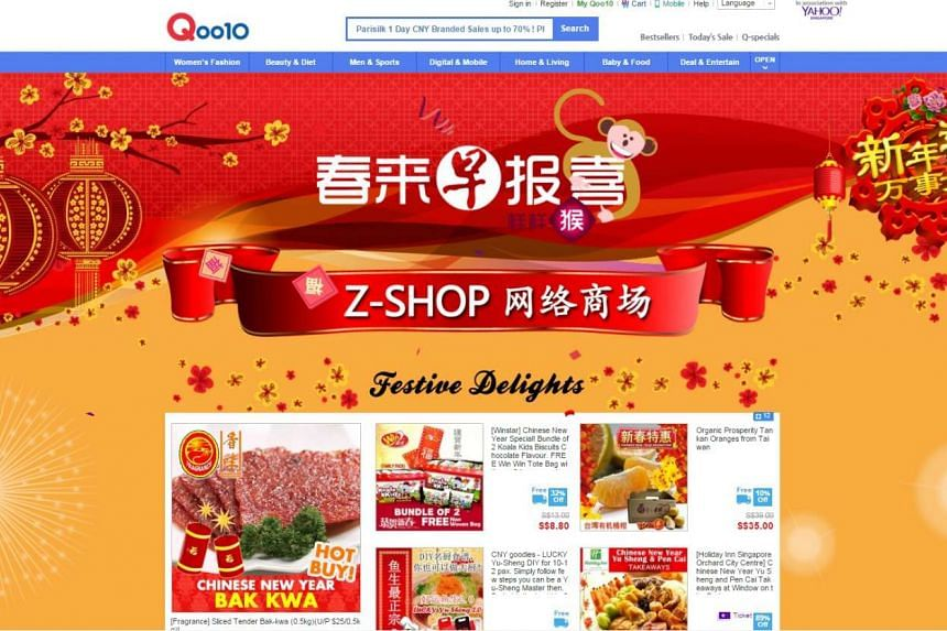 Qoo10 has also tied up with Chinese-language newspaper Lianhe Zaobao to launch a Chinese New Year-themed shop named Z-Shop. Readers can buy festive goodies and read about food trends, fashion styles and fortune predictions for the new lunar year ther