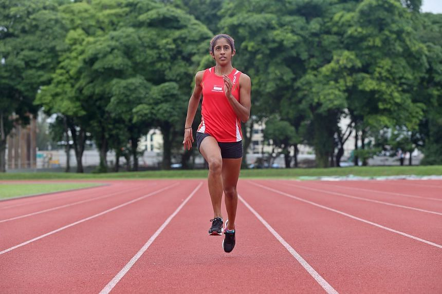 Student Veronica Shanti Pereira won bronze for the 100m and gold for the 200m at last year's SEA Games.