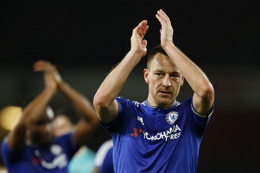 Chelsea's John Terry applauds the fans at the end of the match.
