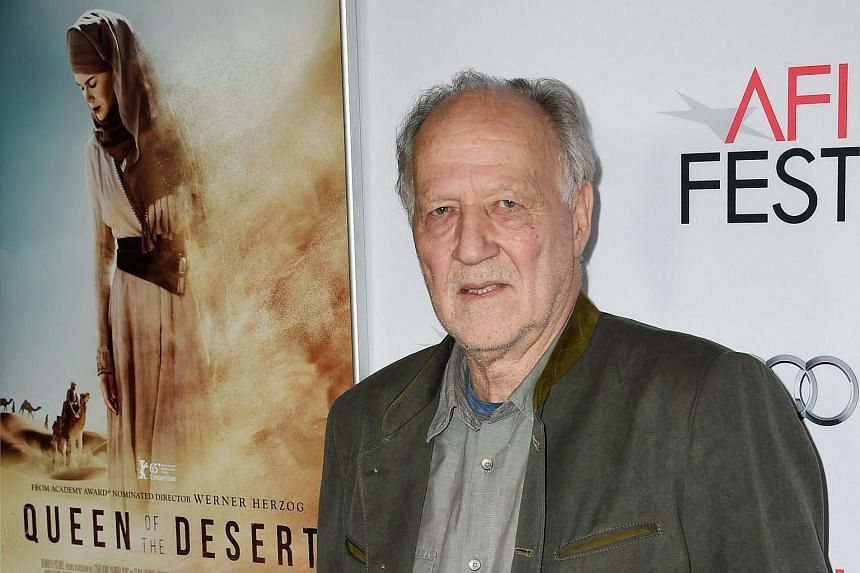 Werner Herzog arrives for the premiere of his film Queen Of The Desert during the AFI Fest 2015 at the Dolby Theatre in Hollywood, California.