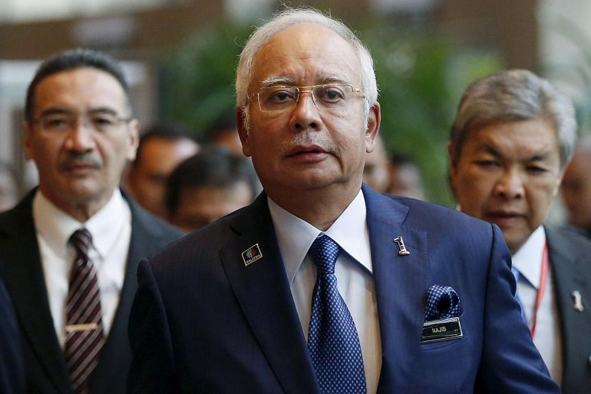 Malaysia's PM Najib Razak arriving at the opening of the International Conference on Deradicalisation and Countering Violent Extremism on Jan 25, 2016.