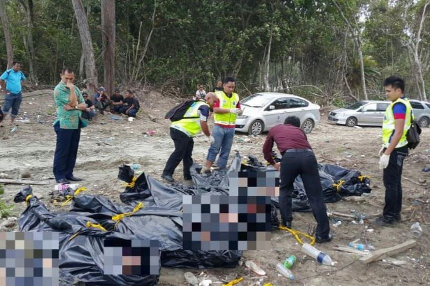 The bodies were washed ashore and discovered by members of the public near the Tanjung Balau beach.