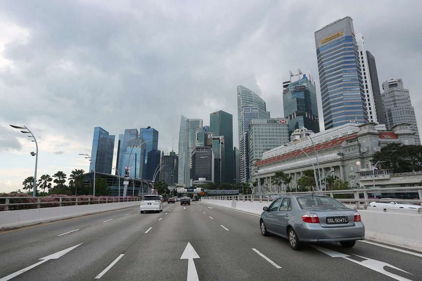 The Singapore skyline and the central business district.