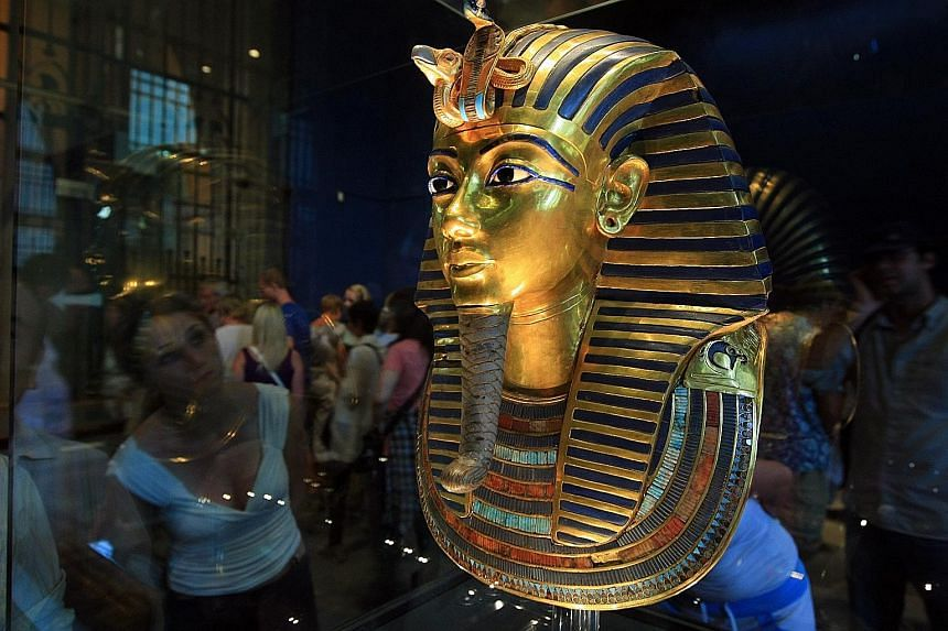In August 2014, workers accidentally knocked the beard off the burial mask of King Tutankhamen, and then tried to glue it back.