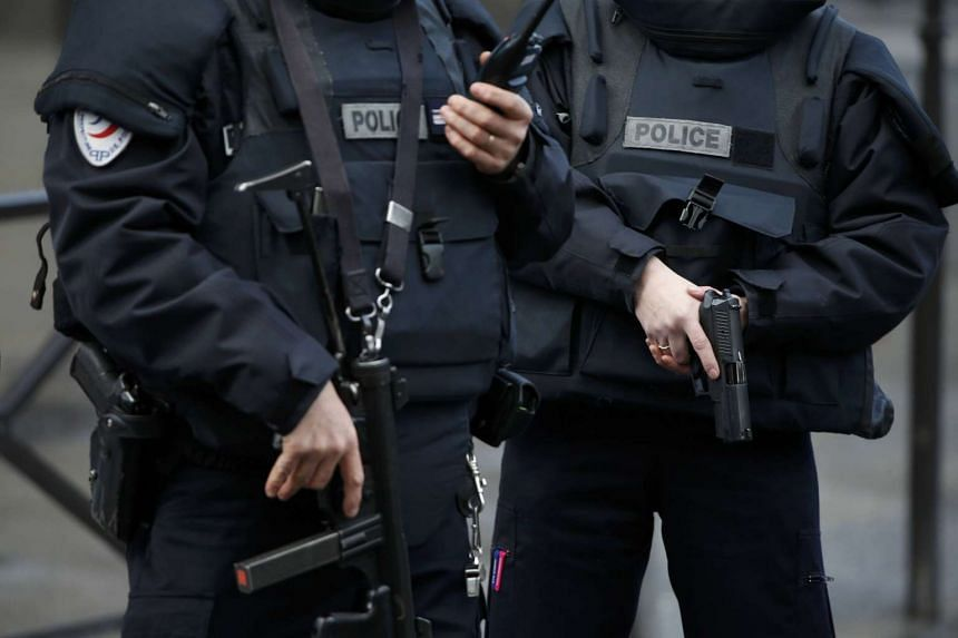 French police in a file photo attending to a security incident.